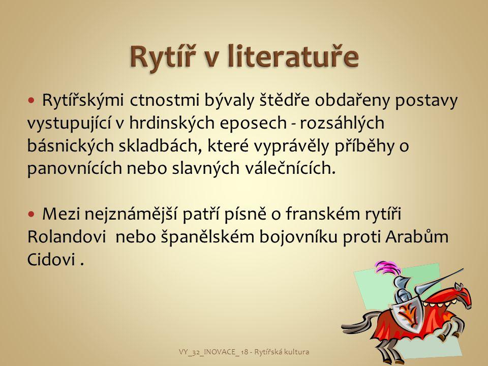 VY_32_INOVACE_ 18 - Rytířská kultura