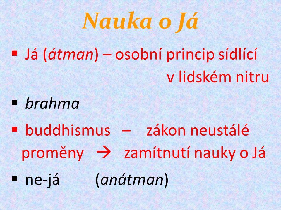 Nauka o Já Já (átman) – osobní princip sídlící v lidském nitru brahma