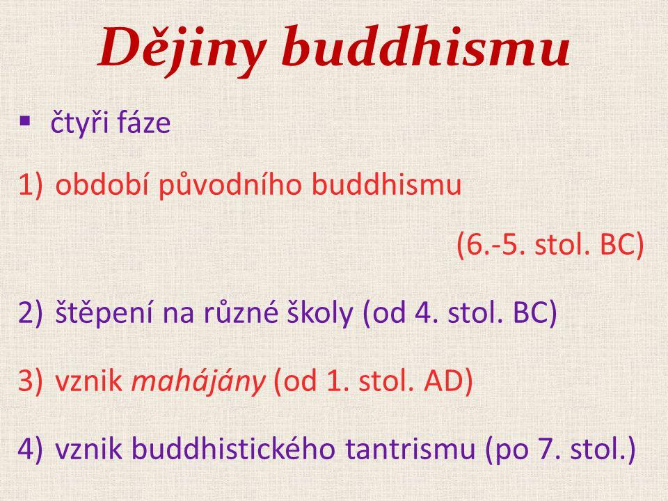 Dějiny buddhismu čtyři fáze