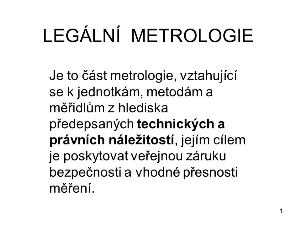 LEGÁLNÍ METROLOGIE