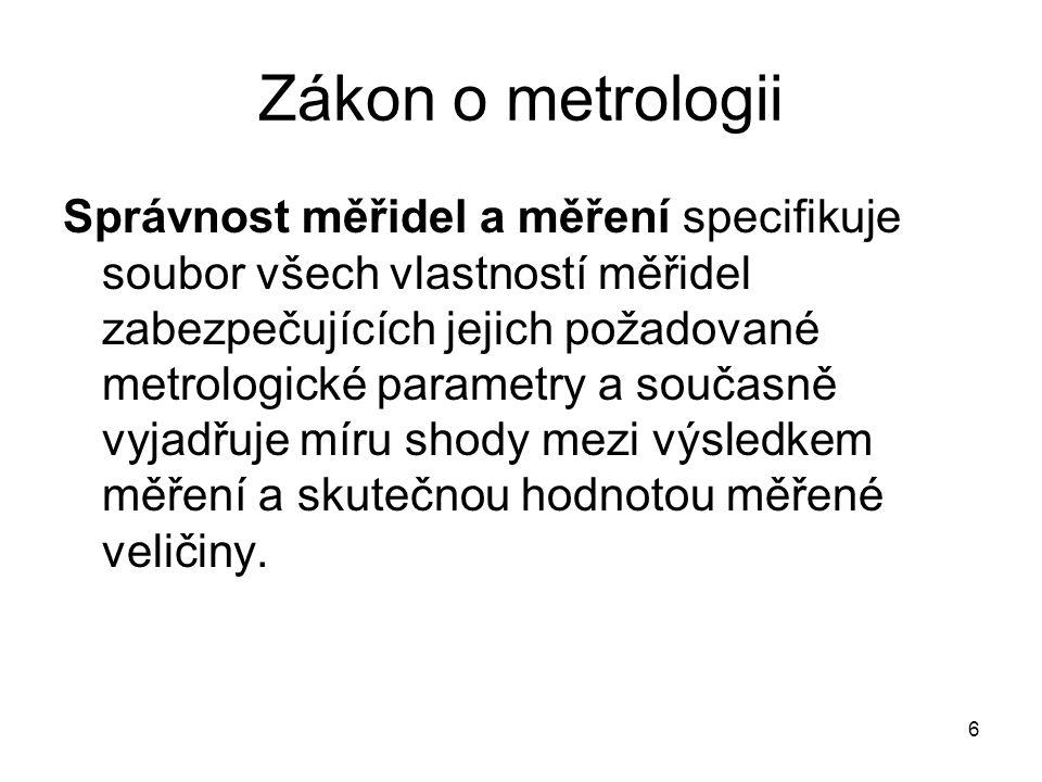 Zákon o metrologii