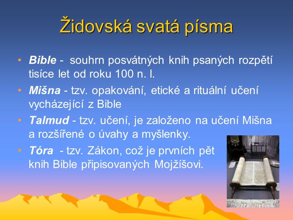 Židovská svatá písma Bible - souhrn posvátných knih psaných rozpětí tisíce let od roku 100 n. l.