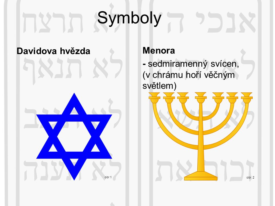Symboly Davidova hvězda Menora