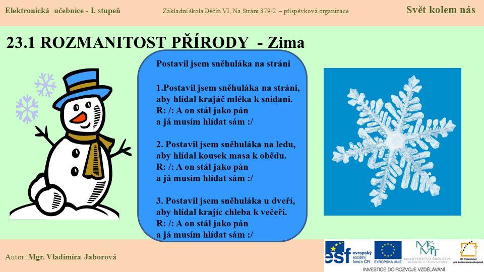 23.1 ROZMANITOST PŘÍRODY - Zima