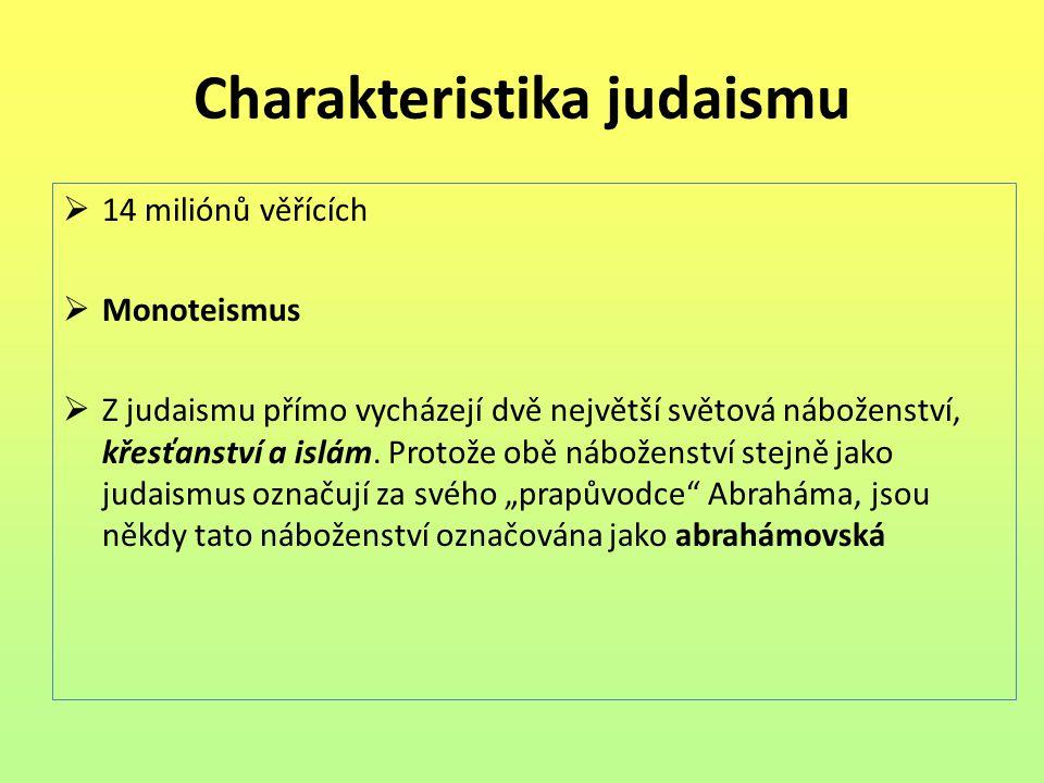 Charakteristika judaismu
