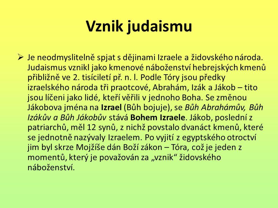 Vznik judaismu