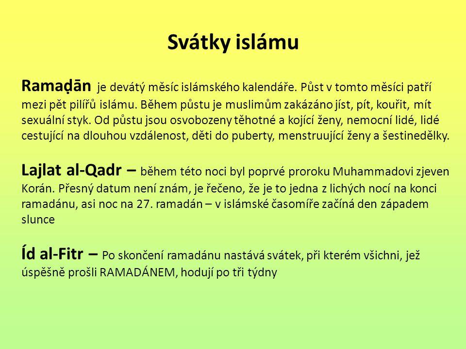 Svátky islámu