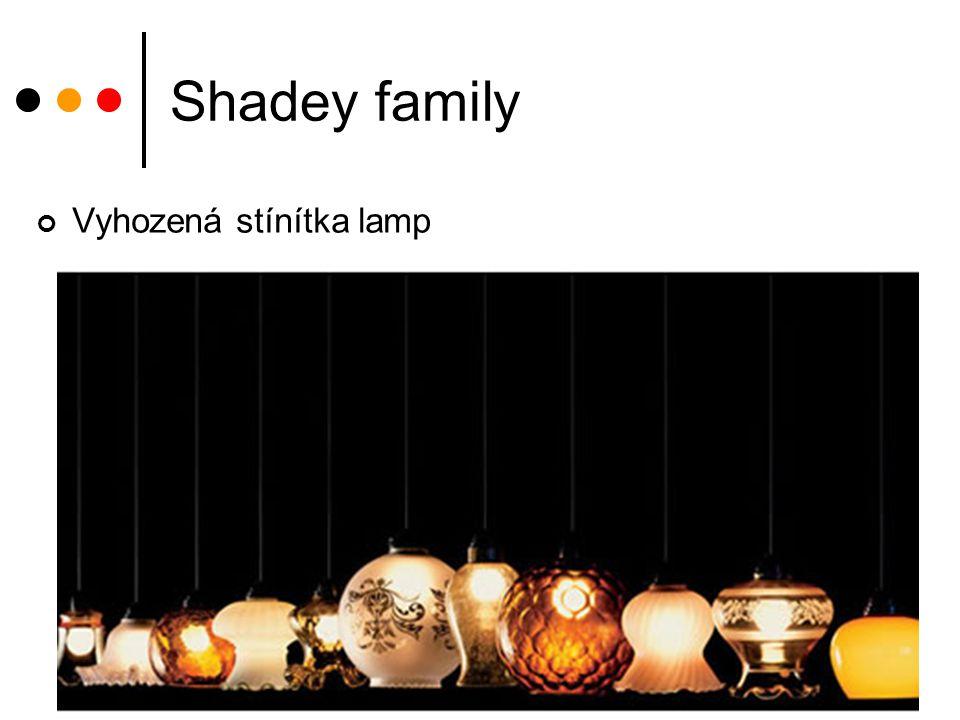 Shadey family Vyhozená stínítka lamp
