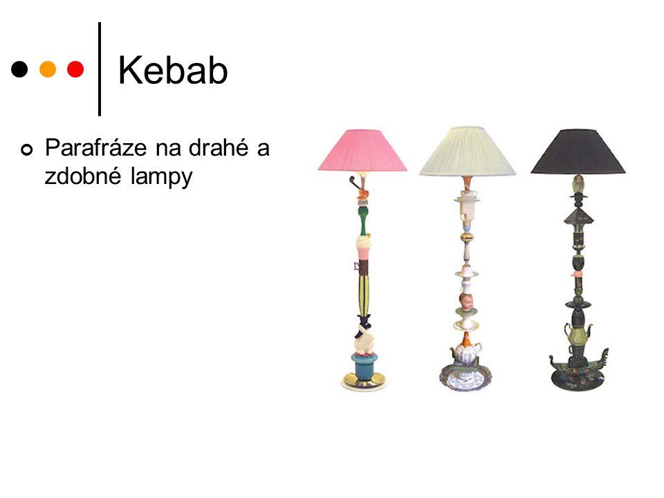Kebab Parafráze na drahé a zdobné lampy