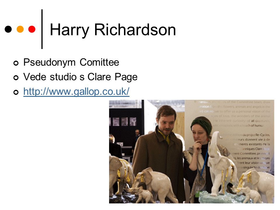 Harry Richardson Pseudonym Comittee Vede studio s Clare Page