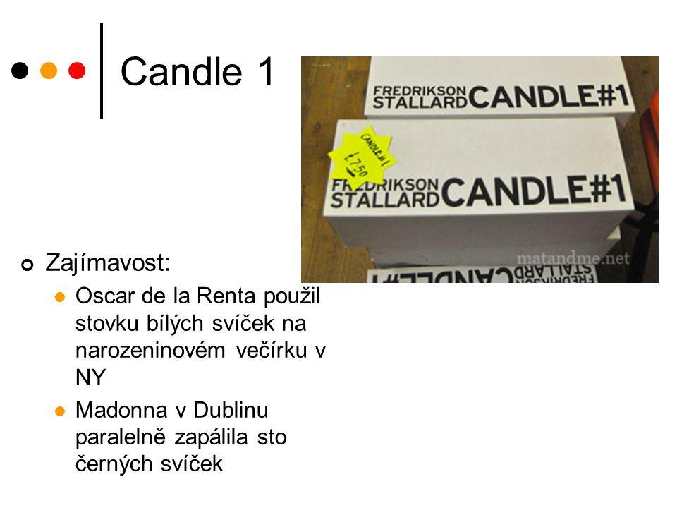 Candle 1 Zajímavost: Oscar de la Renta použil stovku bílých svíček na narozeninovém večírku v NY.