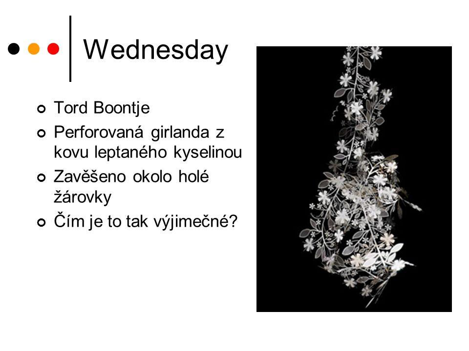 Wednesday Tord Boontje Perforovaná girlanda z kovu leptaného kyselinou