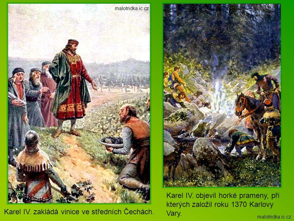 Karel IV. zakládá vinice ve středních Čechách.