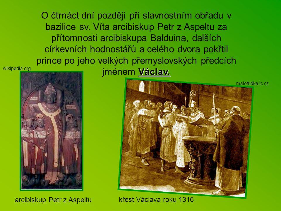 O čtrnáct dní později při slavnostním obřadu v bazilice sv