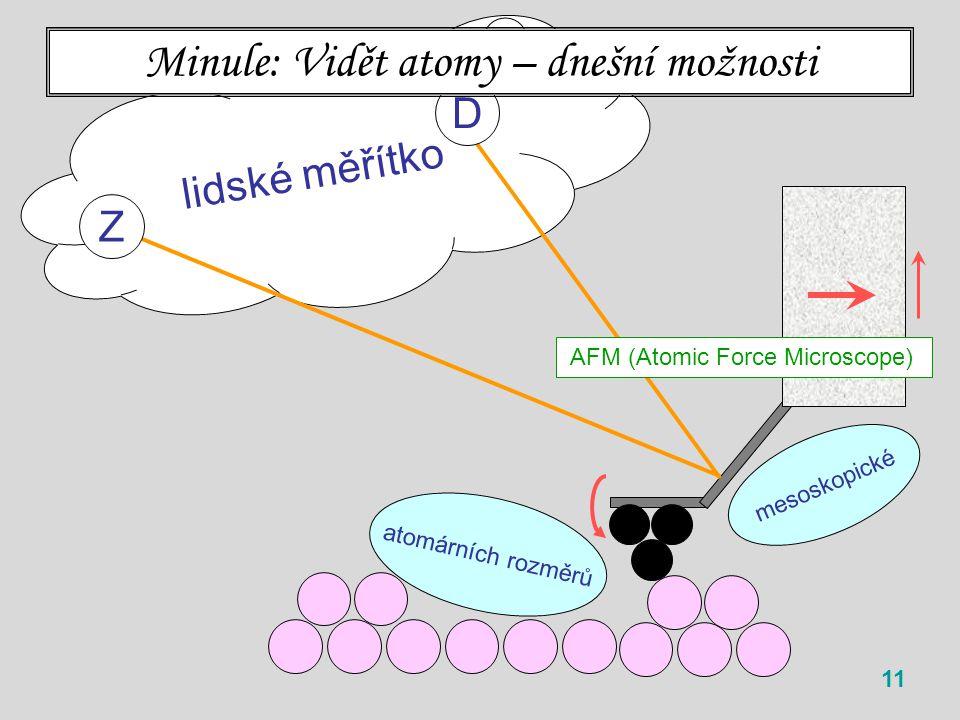 Minule: Vidět atomy – dnešní možnosti