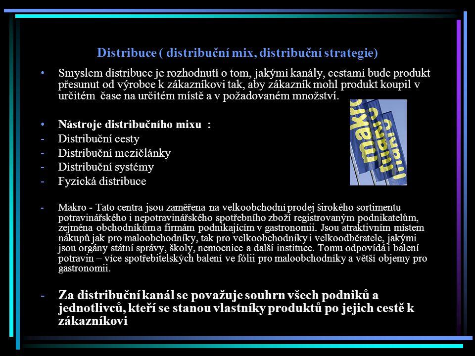 Distribuce ( distribuční mix, distribuční strategie)