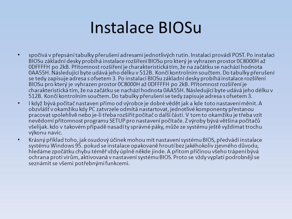 Instalace BIOSu