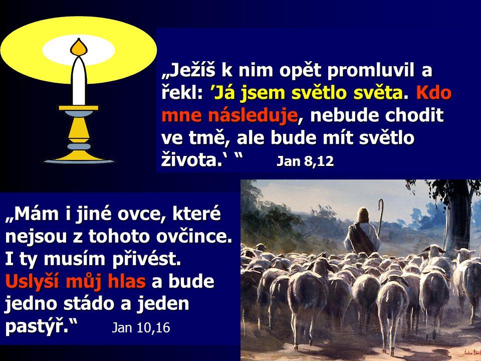 """""""Ježíš k nim opět promluvil a řekl: 'Já jsem světlo světa"""