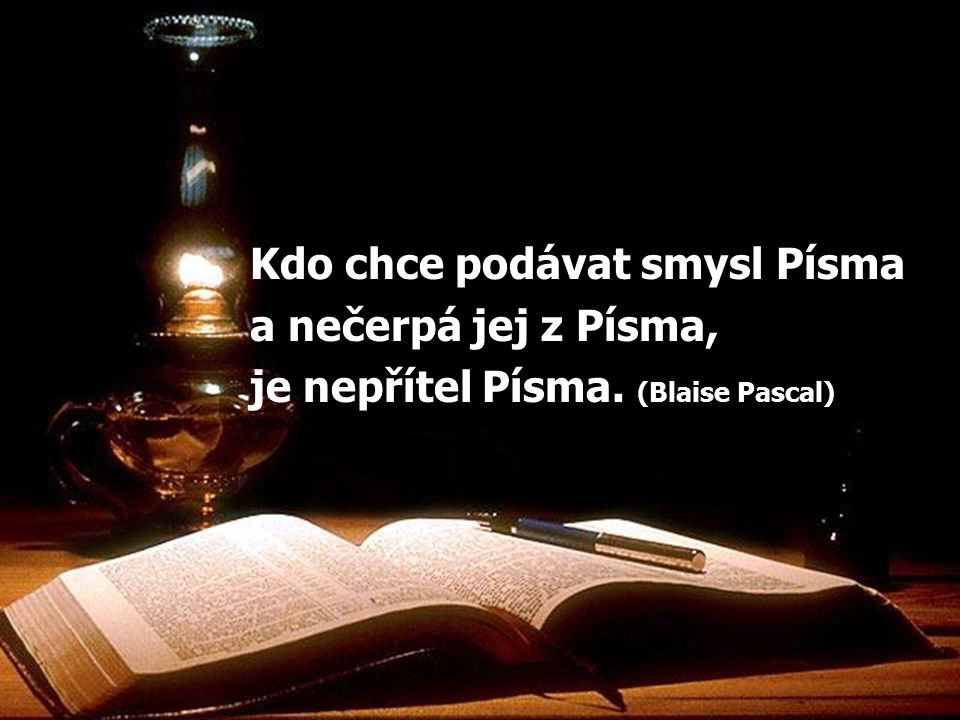 Kdo chce podávat smysl Písma