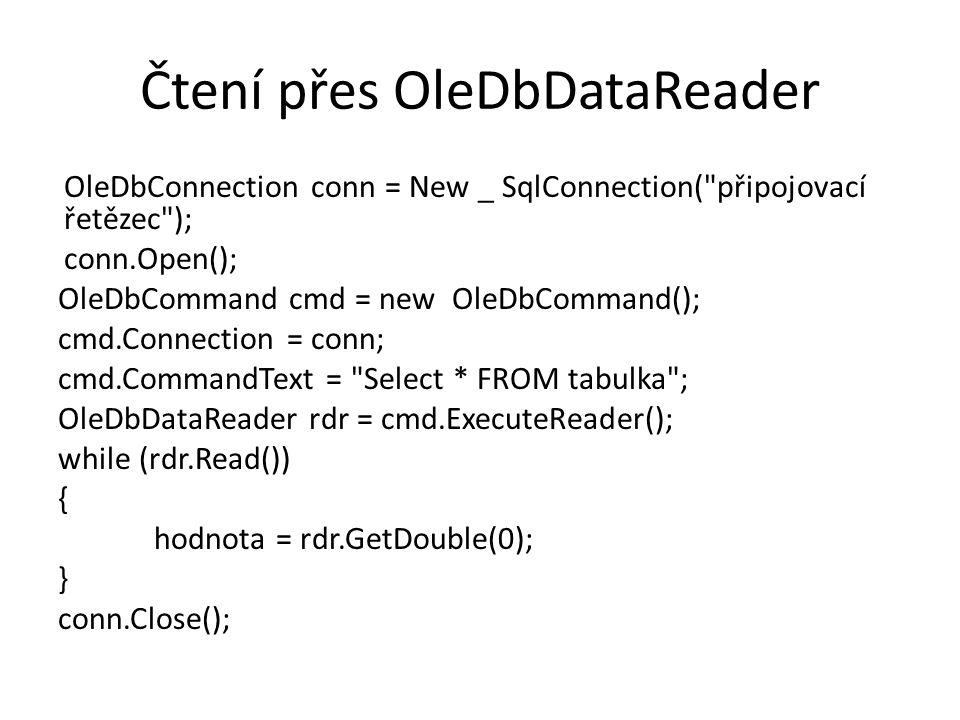 Čtení přes OleDbDataReader