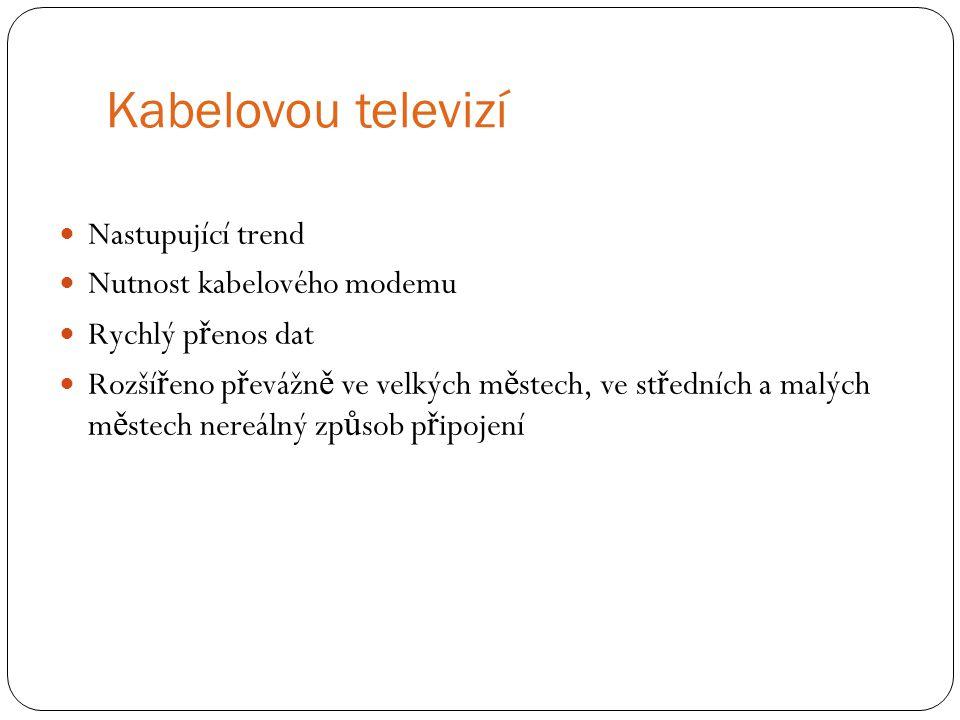 Kabelovou televizí Nastupující trend Nutnost kabelového modemu