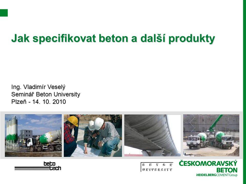 Jak specifikovat beton a další produkty