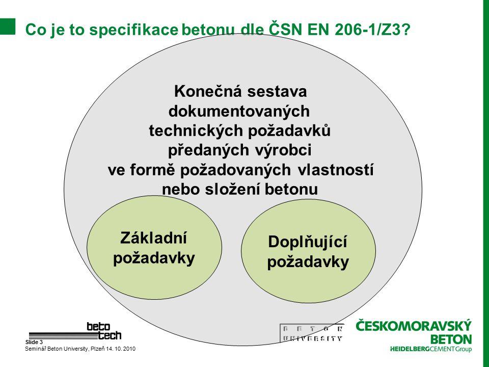Co je to specifikace betonu dle ČSN EN 206-1/Z3
