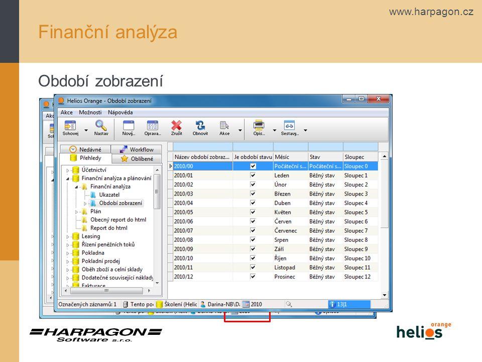 Finanční analýza Období zobrazení