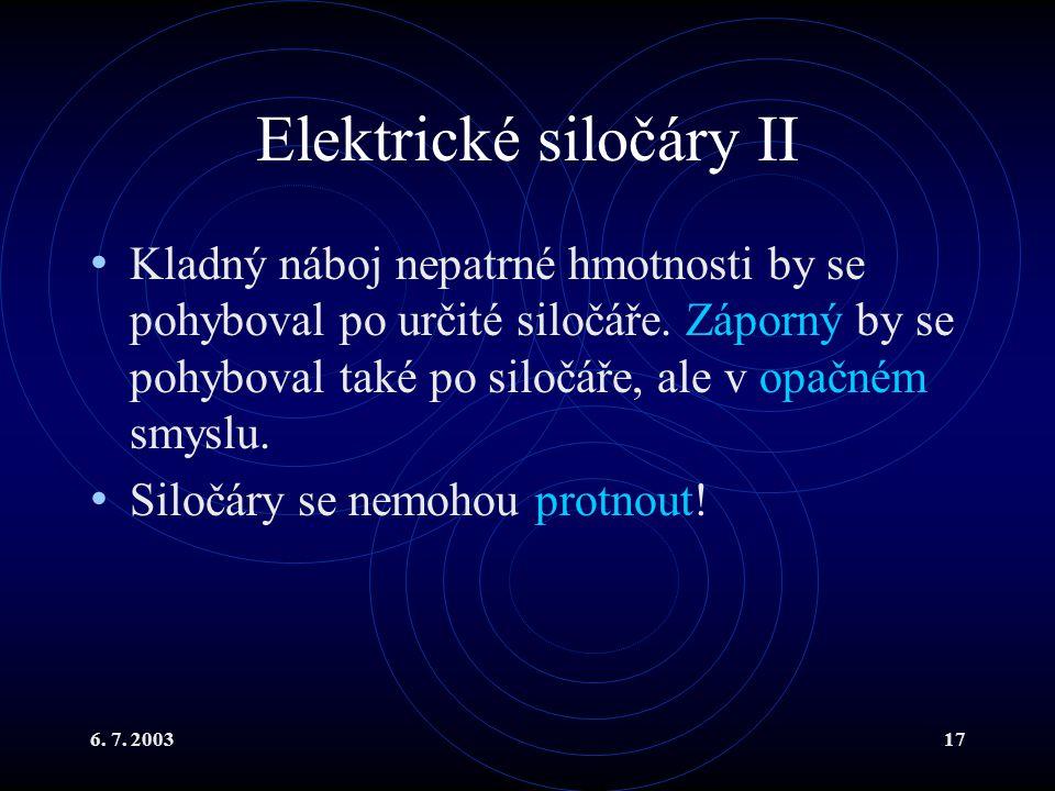 Elektrické siločáry II