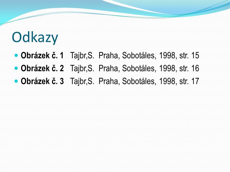 Odkazy Obrázek č. 1 Tajbr,S. Praha, Sobotáles, 1998, str. 15