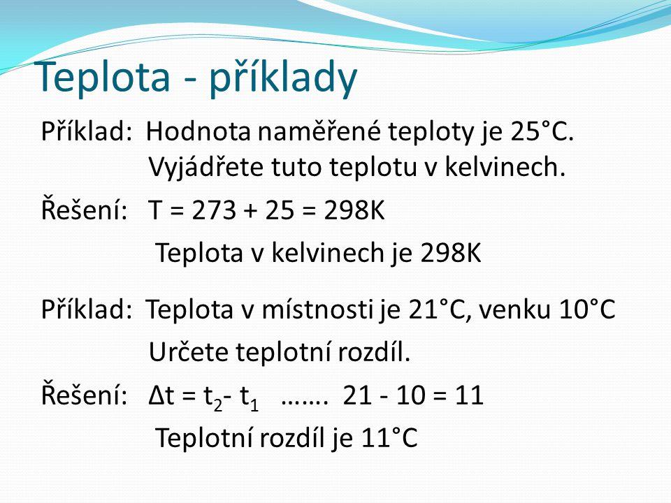 Teplota - příklady