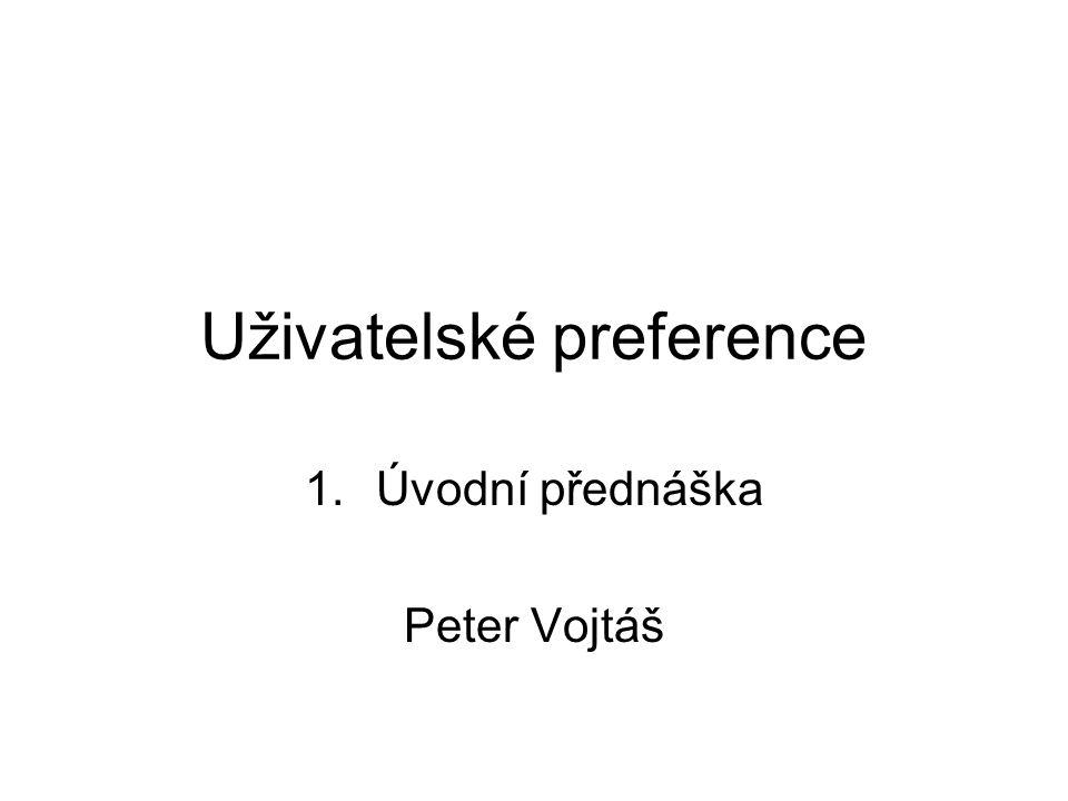 Uživatelské preference
