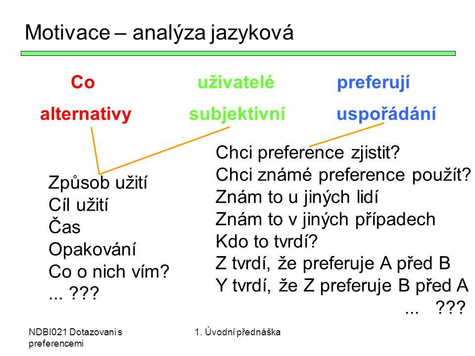 Motivace – analýza jazyková