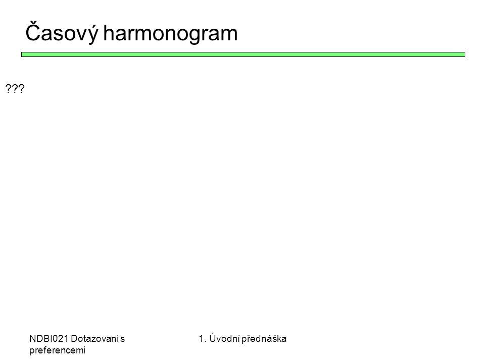 Časový harmonogram NDBI021 Dotazovani s preferencemi