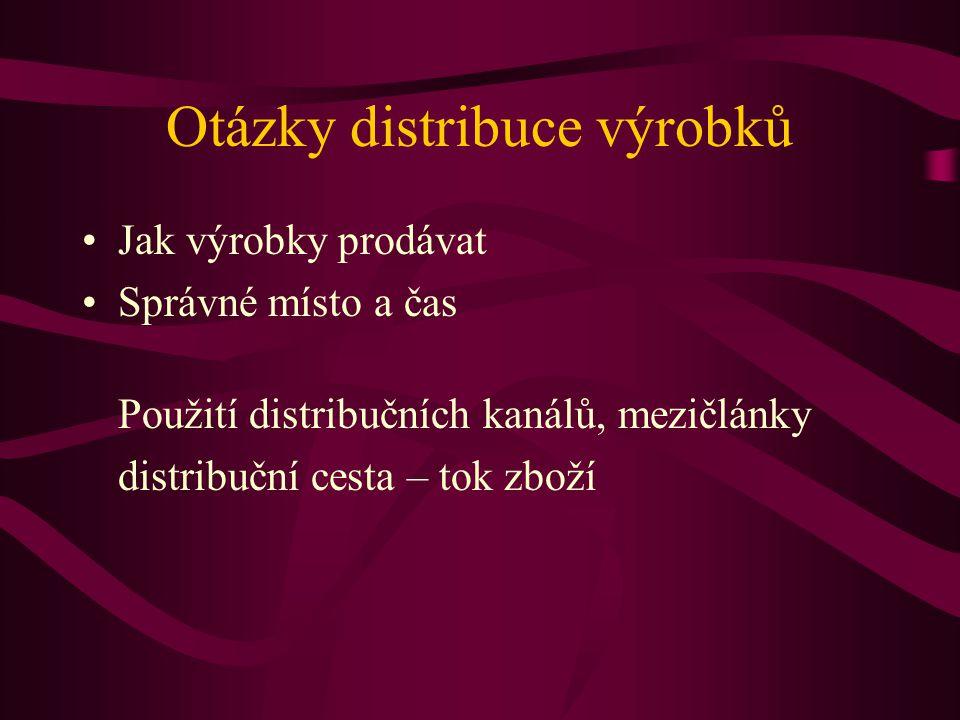 Otázky distribuce výrobků