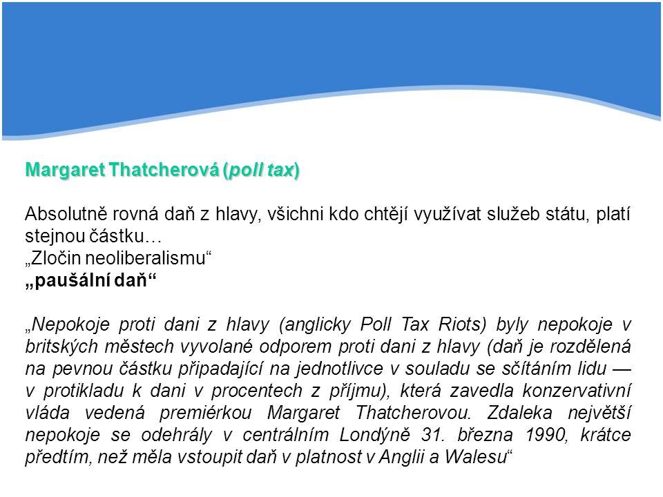 Margaret Thatcherová (poll tax)