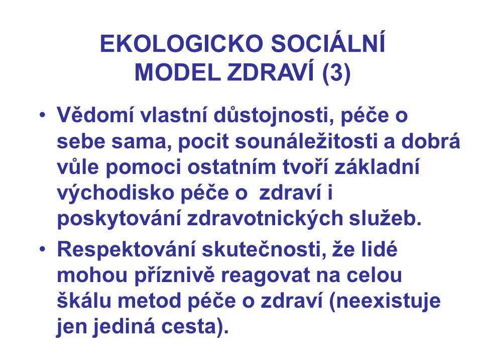 EKOLOGICKO SOCIÁLNÍ MODEL ZDRAVÍ (3)