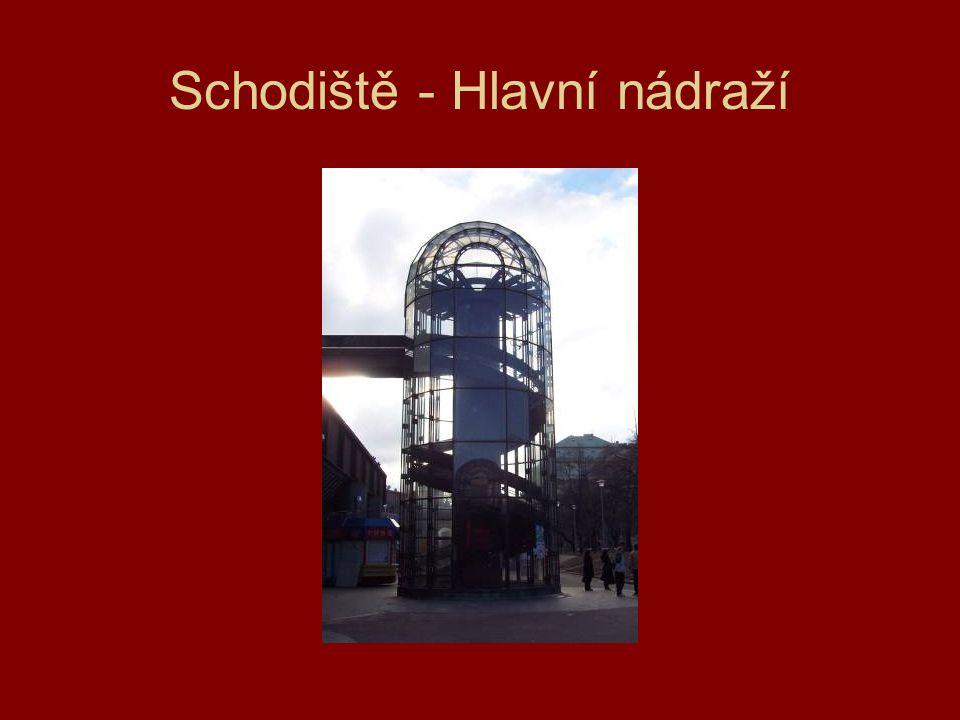 Schodiště - Hlavní nádraží