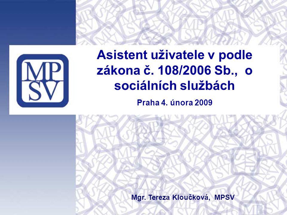 Mgr. Tereza Kloučková, MPSV
