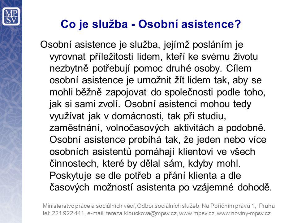 Co je služba - Osobní asistence