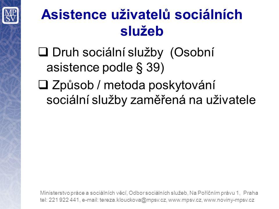 Asistence uživatelů sociálních služeb