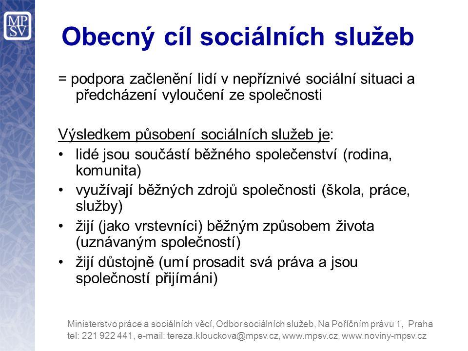 Obecný cíl sociálních služeb