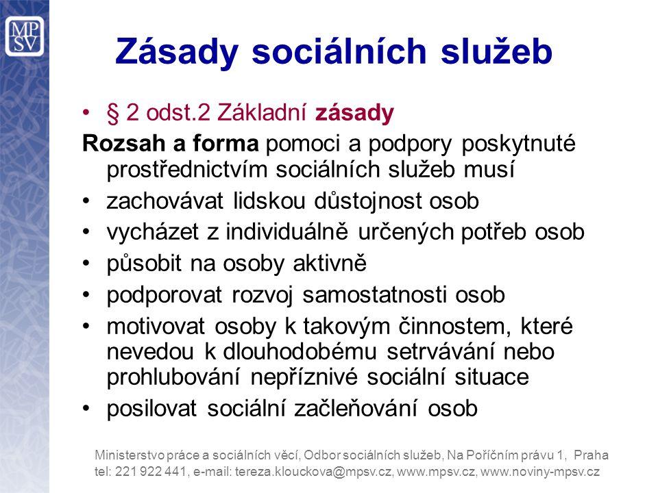 Zásady sociálních služeb