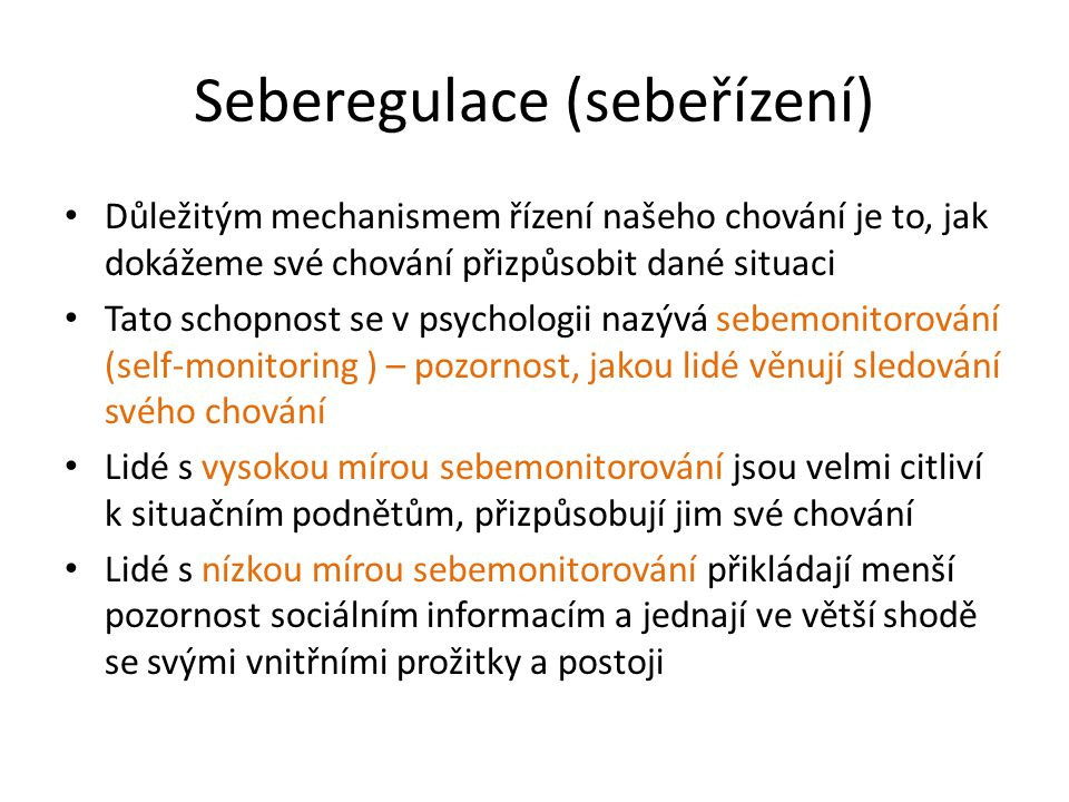 Seberegulace (sebeřízení)