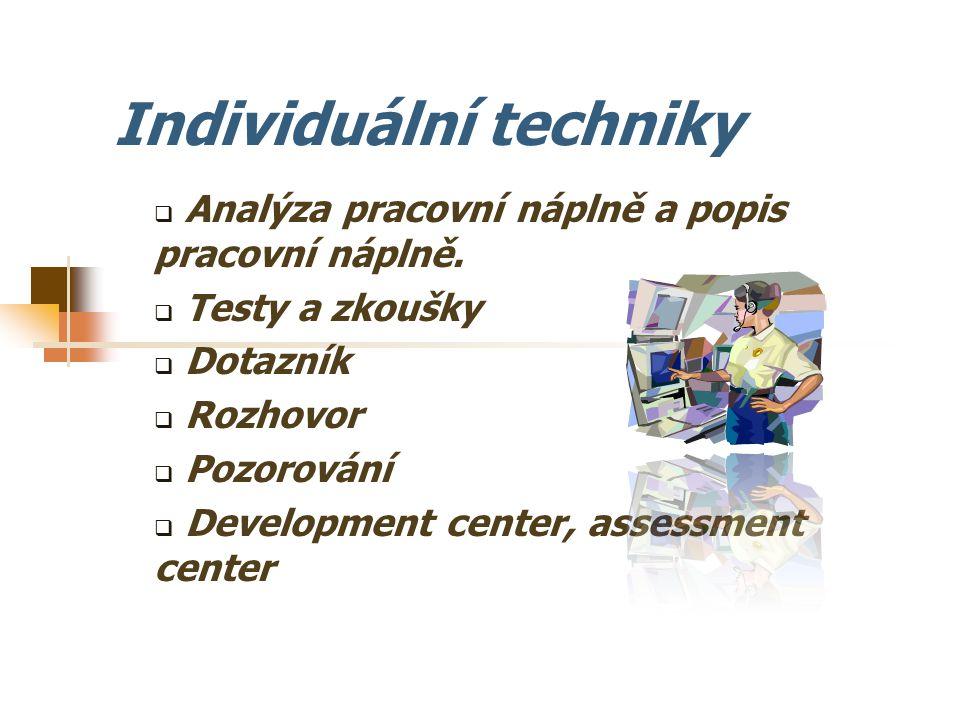 Individuální techniky