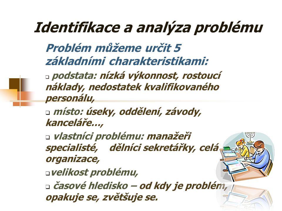 Identifikace a analýza problému