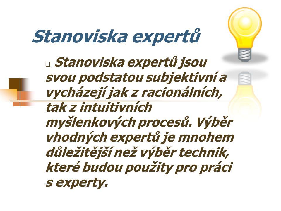Stanoviska expertů