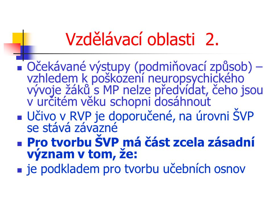 Vzdělávací oblasti 2.