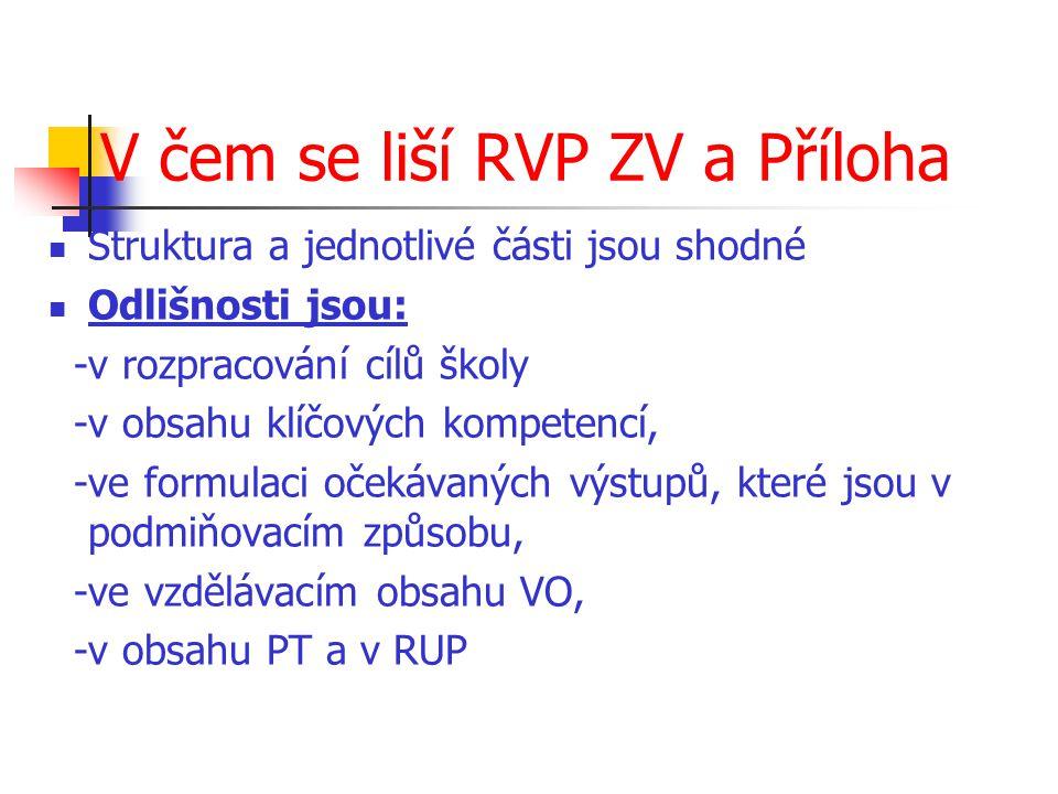 V čem se liší RVP ZV a Příloha