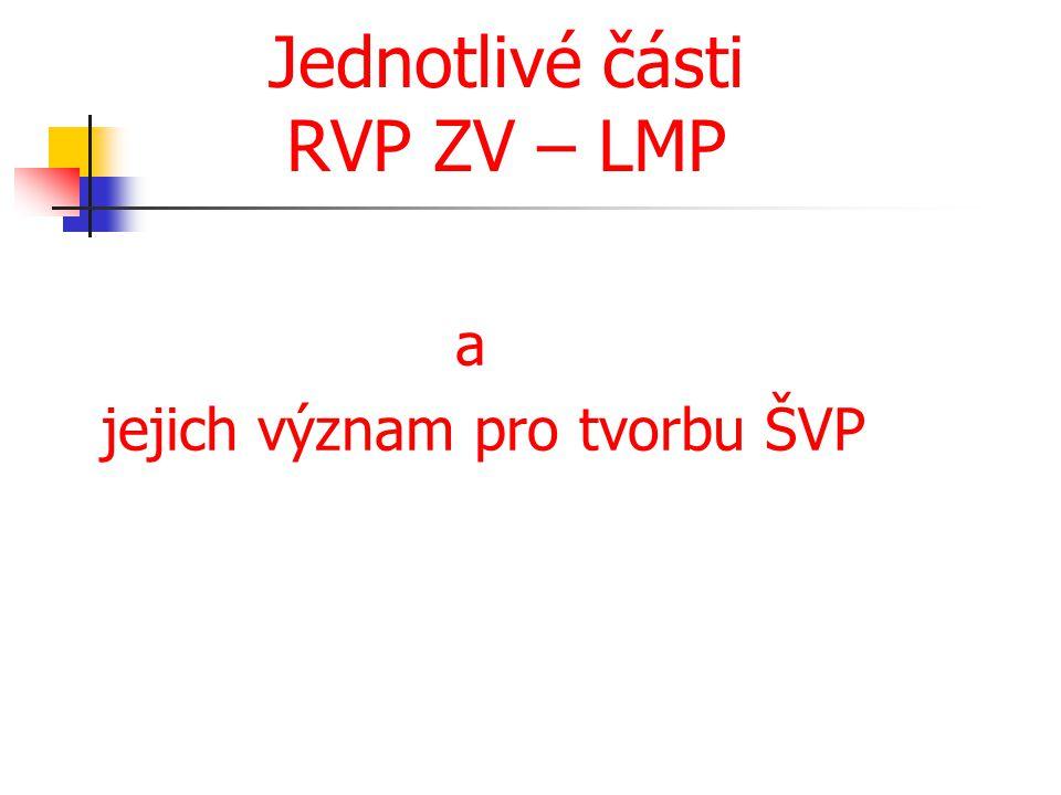 Jednotlivé části RVP ZV – LMP